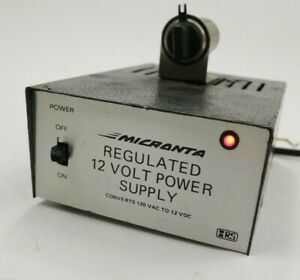 Micronta Regulated 12 Volt Power Supply 13 8 Vdc 2 5a Amp Cat No 22 124 Indoor