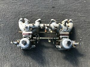 Datsun Nissan 240z 260z Dual Su Side Draft Carburetors Linkage Intake Manifold 4