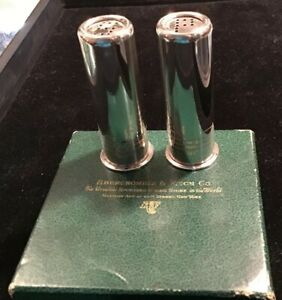 Vintage Abercrombie Fitch Sterling Shotgun Shell Salt Pepper