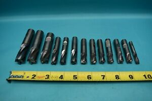 Used Lot Of Carbide Roughing End Mills 1 4 To 3 4