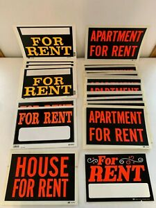 Huge Lot 24 Md Cole Duro 12 X 8 House Apartment For Rent Bright Plastic Signs