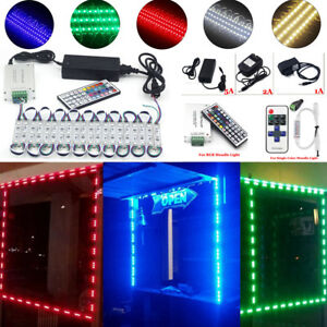 Us 10 100ft 3 Led 5050 Smd Module Store Front Window Sign String Lamp Light Kits