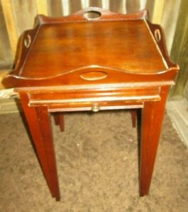 2 Vintage Nesting Mersman End Side Accent Tables Nightstand