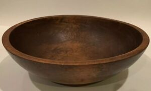 Vtg Antique Munising 13 Oval Out Of Round Wooden Farmhouse Dough Fruit Bowl
