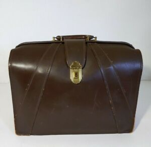 Vtg Antique Art Deco The Leather Specialty Co Leather Briefcase Doctor S Bag