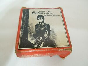 Vintage Coca Cola Old Fashioned Bottle Opener Cast Iron in Original Box NEW!