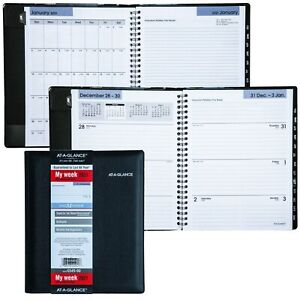 2021 At a glance Dayminder G545 00 Weekly Monthly Planner 6 88x8 75 Refillable