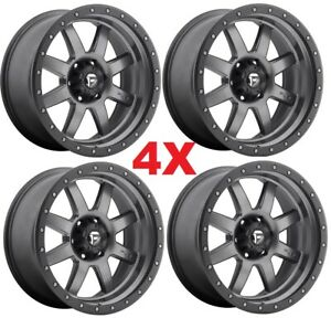 20 Anthracite Wheels Rims Gray Fuel Sierra Silverado 1500
