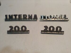 1950 s Vintage International 200 Truck Harvester Emblems see Pics 4 Condition