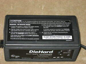 Diehard Battery Charger Maintainer Tested