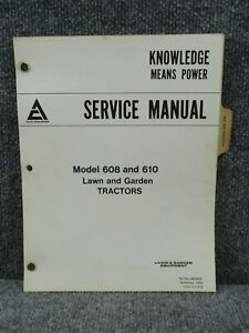 Oem Factory Allis Chalmers 608 610 Lawn Garden Tractor Service Repair Manual