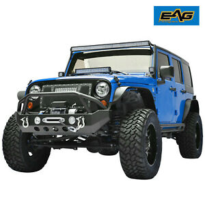 Eag Fit For 07 18 Jeep Wrangler Jk Offroad Front Bumper With D Rings