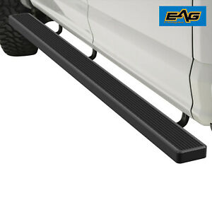 Eag Running Board Aluminum 6 Black And Hd Bracket Fit 02 08 Ram 1500 Quad Cab