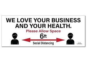 Social Distancing Signs Corrugated Plastic 12pk 9 X 24 Free Shipping