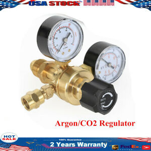 Welding Regulator Gauge Accurate Flow Welder Cga580 Mig Tig Argon Co2 4000psi Us