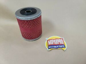 1939 1940 Chrysler Flathead Six 6 New Engine Oil Filter And Rubber Gasket New