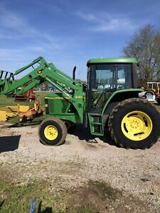 John Deere 6300 Tractor With Loader Power Quad Nice Tractor