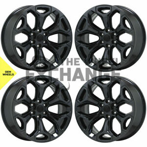 22 Dodge Ram 1500 Truck Pvd Black Chrome Wheels Rims Factory Oem 2685 Exchange