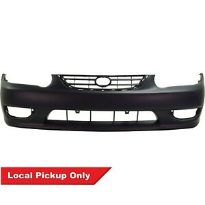 New Front Primed Bumper Cover For 2001 2002 Toyota Corolla To1000217 5211902908