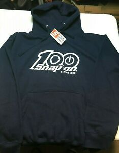 super Rare Snap on Tools 100th Anniversary Large Navy Blue Pullover Hoo