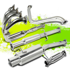 4 Performance Catback Header Piping Exhaust System For Honda Prelude H22 92 96