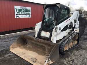 2012 Bobcat T650 Compact Track Skid Steer Loader A91 Cab 2spd Sjc High Flow