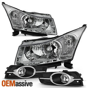 Fit 2011 2014 Chevy Cruze Ls lt ltz Clear Headlights Fog Lights Replacement