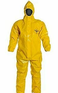 Dupont Tychem Br Coverall Sz Med Protective Yellow