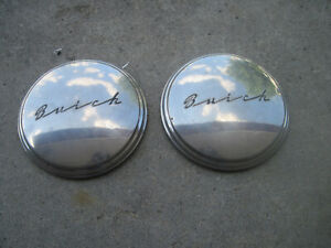 Two Vintage Buick Dog Dish Hub Caps Late 40s Early 50s