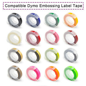 Compatible Dymo 3d Plastic Embossing Label Tape Xpress Label Maker 9mm 3m 3 8