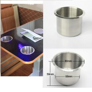 Silver Chrome Stainless Steel Cup Drink Holder For Boat Rv Truck Sofa Camper