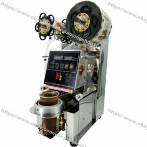 90 95mm Stainless Steel Electric Auto Boba Bubble Tea Cup Sealer Sealing Machine