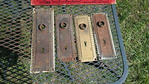 Vintage Victorian Art Deco Door Plate Hardware Set Of 4