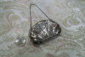Very Dainty Antique Sterling Silver Coin Purse