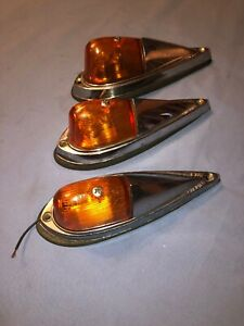 Vintage Truck Roof Cab Marker Lights Model A T Ford Chevy Rat Rod Scta Mack Reo