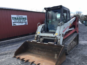 2011 Takeuchi Tl250 Compact Track Skid Steer Loader Cab 2spd High Flow 3300hrs