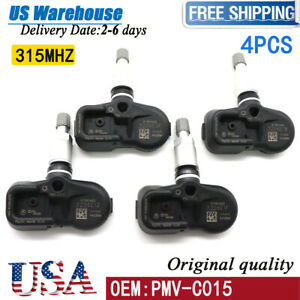 4x Tire Pressure Sensor Tpms Oem Pmv c015 For Toyota Camry Tacoma Land Cruiser