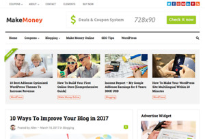 Makemoney Blog Or Affiliate Wordpress Website With Demo Content