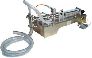 110v Liquid Filling Machine 50 500ml With One Nozzle Full Pneumatic Filler