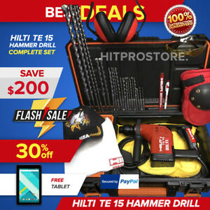 Hilti Te 15 c Rotary Hammer Drill Preowned Free Smart Watch Bit Chisels