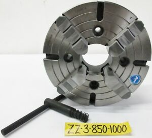 10 4 Jaw Independent Manual Chuck Plain Back Tmx Brand 3 850 1000