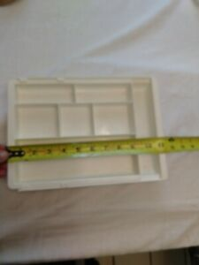 Desk Drawer Organizer Expandable Tray 8 Sections White