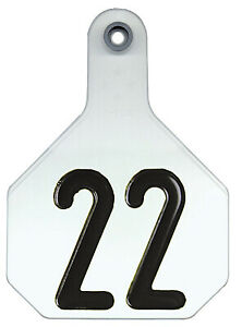 All American Livestock Tag Numbered Large White 25 pk