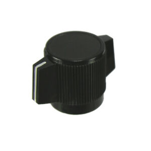 2x Black Pointer Knob With White Indicator