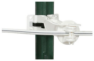 Electric Fence Insulator Offset White 5 in 20 pk