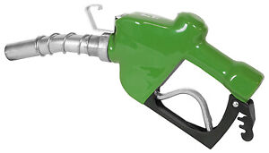 Automatic Diesel Nozzle High flow Green 1 in
