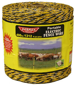Electric Fence Wire Yellow Black Aluminum 1 312 ft Spool
