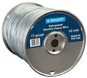 17 gauge Electric Fence Wire 2640 ft