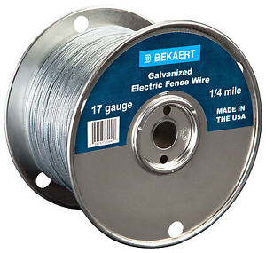 17 gauge Electric Fence Wire 1320 ft