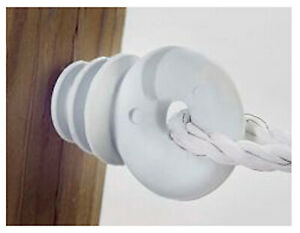 Electric Fence Insulator Ring White